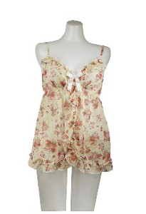 Disposal item Floral Pattern Babydoll Bag Set
