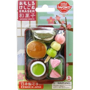 IWAKO Japanese confectionery Blister Pack Eraser