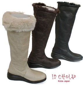 A/W Genuine Leather Fur Return Long Boots 3 Colors