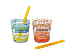 Glass Free Straw Gift Pop Stripe