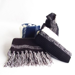 Acrylic Border Scarf Miscellaneous goods