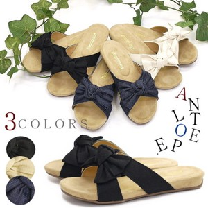 Flat Sandal Ladies Ribbon Denim