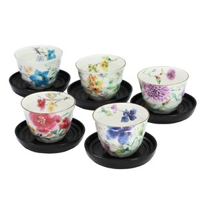 Mino Ware Gift Hana suisai Teacup Holder Attached Sencha