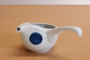 Arita Ware Bicolor Marumon Open Japanese Tea Pot