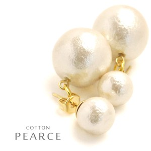Cotton Pearl Double Pierced Earring Local Finish Standard
