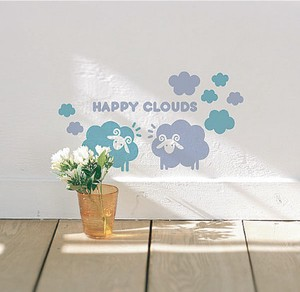 Mini Wall Stickers/ミニウォールステッカー/Happy Clouds