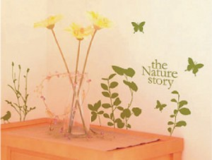 Mini Wall Stickers/ミニウォールステッカー/Nature story Bird