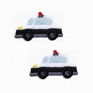 Going to School Mini Patch Patrol Car Iron Adhesion
