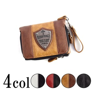 Plate Attached Two Tone Color Switching Wallet Wallet