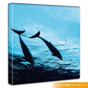 Wall Hanging Product Interior Fabric Panel Dolphin