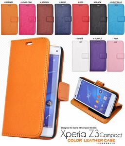 Smartphone Case Colorful 10 Colors Xperia Z3 Color Leather Case Pouch