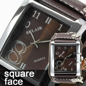 Square Face Men's Wrist Watch BEL AIR