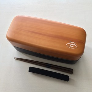 Tint Lovely Wood Grain Lunch Series Wood Grain Big Square Lunch Chopstick
