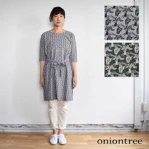 Owl Rayon Linen One-piece Dress