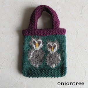 Animal Knitted Bag Owl