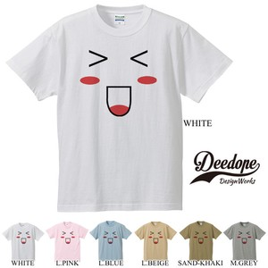 "【DEEDOPE】""SMAILE"" 半袖 プリント Tシャツ"