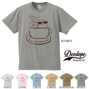 "【DEEDOPE】""CUP ANIMALS"" 半袖 プリント Tシャツ 動物 コップ"