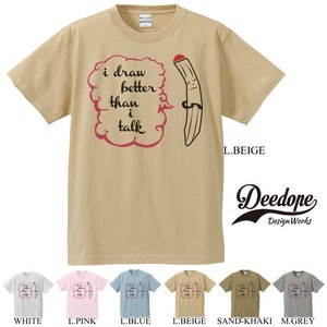 "【DEEDOPE】""I DRAW BETTER THAN I TALK"" 半袖 プリント Tシャツ 鉛筆 えんぴつ"