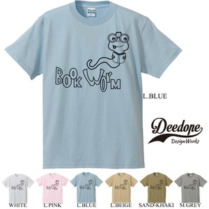 "【DEEDOPE】""BOOK WORM"" 半袖 プリント Tシャツ  読書 本"