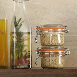 【KILNER】ROUND CLIPTOP JAR 125ml[メイソンジャー]