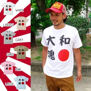 DEEDOPE Japanese Spirit Short Sleeve Print T-shirt Cut And Sewn Japanese Flag
