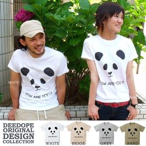 DEEDOPE Short Sleeve Print T-shirt Cut And Sewn Panda Bear