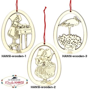 France hansi Wooden Ornament