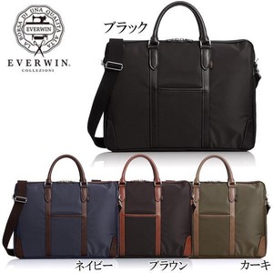 EVERWIN Business Bag attached leather Business