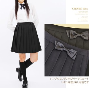 for School Girls Plain Pleats Skirt