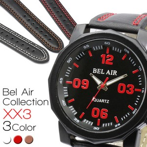 BEL AIR Square Shape Red Index Men's Wrist Watch