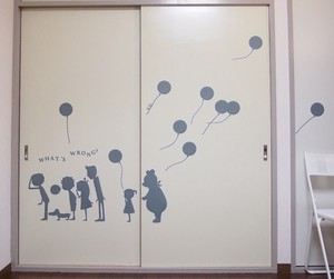 Wall art What's wrong? Largeサイズ(グレー)