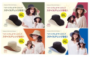 UV protection Reversible Hat