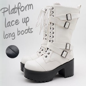 Lace Closs Belt Long Boots Cosplay Ladies
