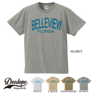 "【DEEDOPE】  "" BELLEVIEW FLORIDA"" 半袖 プリント Tシャツ 綿100% カットソー"