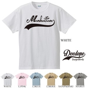 "【DEEDOPE】  ""MANHATTAN"" 半袖 プリント Tシャツ 綿100% カットソー"