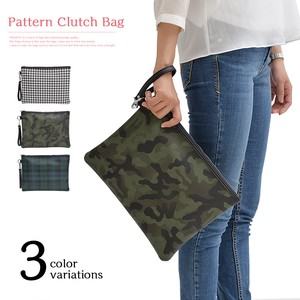 Fake Leather Repeating Pattern Clutch Bag