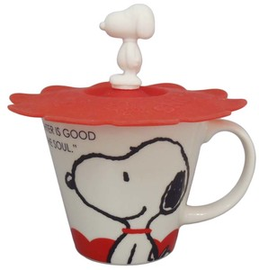Snoopy Silicone Cup Cover Attached Mug Snoopy