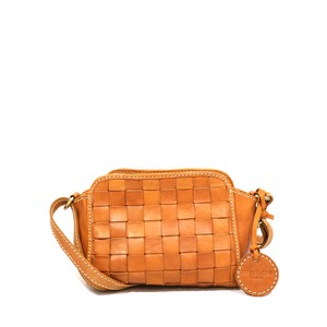 zucchero filato Leather Mesh Shoulder Bag
