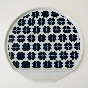 Arita Ware Four Leaves Half-Moon Plate