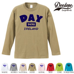 "【DEEDOPE】 ""DAY "" ロンT 長袖 プリント Tシャツ"
