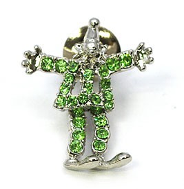Glitter Brooch Clown Gift
