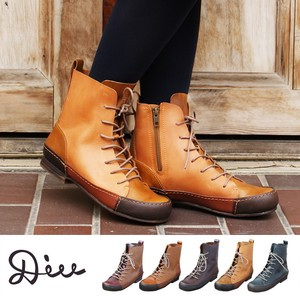 Lace Boots Genuine Leather