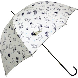 Umbrella Stick Umbrella The Moomins Repeating Pattern Slim