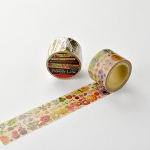 Round Top Washi Tape Yano Design Flower Line Washi Tape