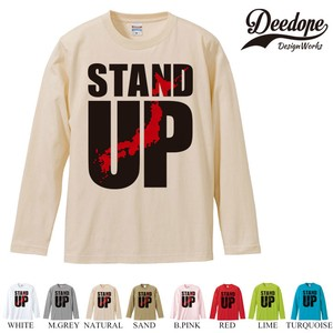 "【DEEDOPE】 ""STAND UP "" ロンT 長袖 プリント Tシャツ"