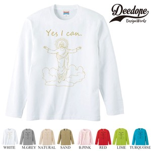 "【DEEDOPE】 ""YES I CAN "" ロンT 長袖 プリント Tシャツ"