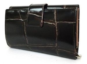 Genuine Leather Push Two Long Wallet