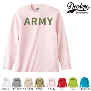 "【DEEDOPE】 ""ARMY "" ロンT 長袖 プリント Tシャツ"