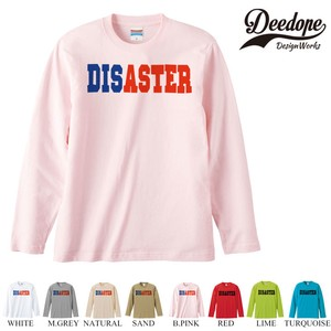 "【DEEDOPE】 ""DISASTER "" ロンT 長袖 プリント Tシャツ"