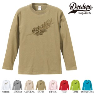 "【DEEDOPE】 ""FEATHER "" ロンT 長袖 プリント Tシャツ"